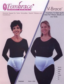V-Brace by Fembrace Support Garments for Vulvar Varicosities,Genital Prolapse and Incontinence, Style 6200