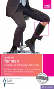 Mediven for Men Ribbed Knee High 30-40mmHg Closed Toe
