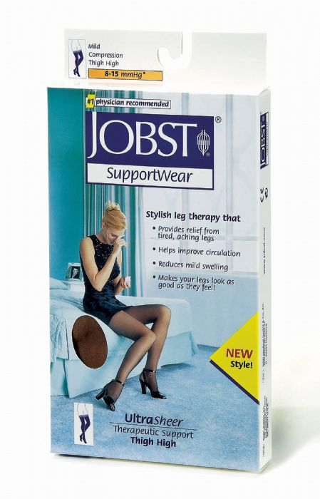 6c28586766b JOBST UltraSheer Compression Support Thigh High 8-15mmHg Closed Toe ...
